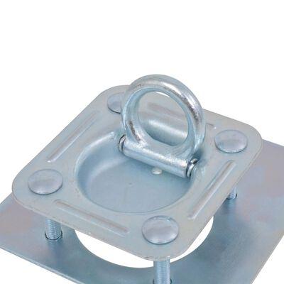 vidaXL Lashing Rings for Trailer 6 pcs Galvanised Steel 2000 kg,