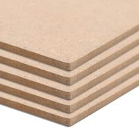 vidaXL 10 pcs MDF Sheets Square 60x60 cm 2.5 mm
