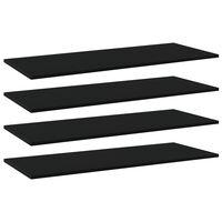 vidaXL Bookshelf Boards 4 pcs Black 100x40x1.5 cm Chipboard