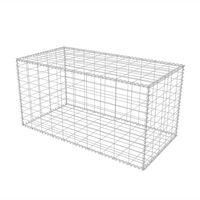 vidaXL Gabion Basket Galvanised Steel 100x50x50 cm