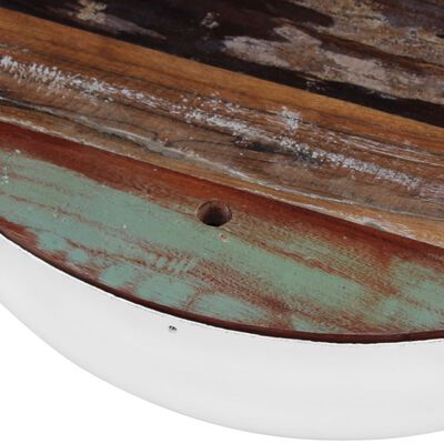 vidaXL Two Piece Bowl Shaped Coffee Table Set Solid Reclaimed Wood