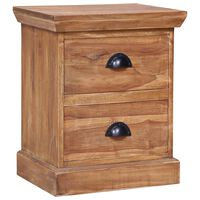 vidaXL Bedside Cabinet 40x30x50 cm Solid Teak