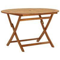 vidaXL Folding Garden Table 120 cm Solid Acacia Wood