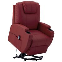 vidaXL Stand-up Recliner Wine Red Faux Leather (AU only)