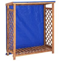 vidaXL Firewood Storage Shed 105x38x118 cm Solid Acacia Wood