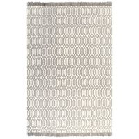 vidaXL Kilim Rug Cotton 160x230 cm with Pattern Taupe