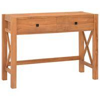vidaXL Desk with 2 Drawers 100x40x75 cm Recycled Teak Wood