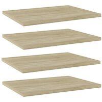 vidaXL Bookshelf Boards 4 pcs Sonoma Oak 40x30x1.5 cm Chipboard