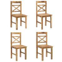 vidaXL Dining Chairs 4 pcs Solid Mango Wood