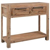 vidaXL Console Table 82x33x73 cm Solid Acacia Wood