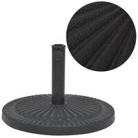 vidaXL Parasol Base Resin Round Black 14 kg