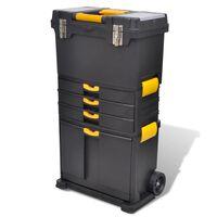 vidaXL Tool Case Chest Tool Trolley Portable
