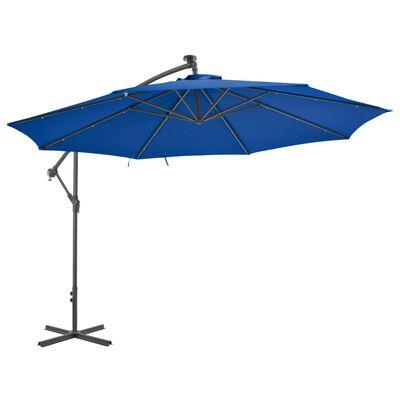 vidaXL Cantilever Umbrella with Aluminium Pole 350 cm Blue