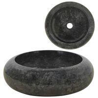 vidaXL Sink 40x12 cm Marble Black
