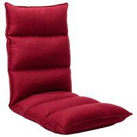 vidaXL Folding Floor Chair Wine Red Fabric