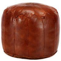 vidaXL Pouffe Tan 40x35 cm Genuine Goat Leather