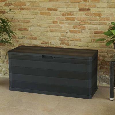 vidaXL Garden Storage Box Black 117x45x56 cm