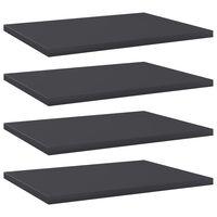 vidaXL Bookshelf Boards 4 pcs Grey 40x30x1.5 cm Chipboard