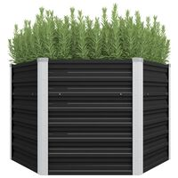 45734 vidaXL Garden Raised Bed Anthracite 129x129x77 cm Galvanised Steel