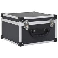 vidaXL CD Case for 40 CDs Aluminium ABS Black