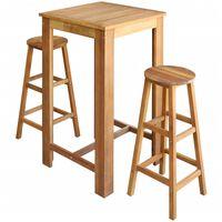 vidaXL Bar Table and Stool Set 7 Pieces Solid Acacia Wood