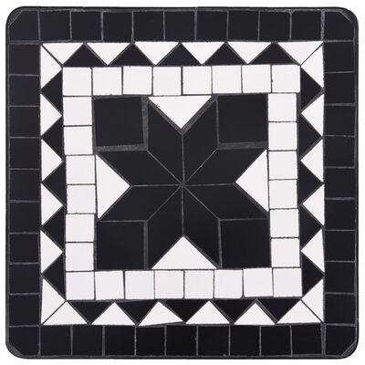 vidaXL Mosaic Side Table Black and White Ceramic