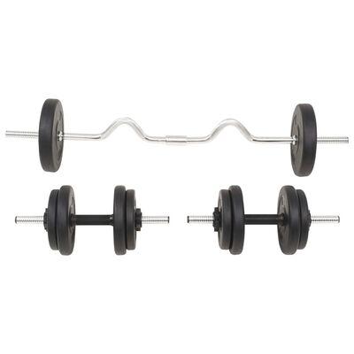 vidaXL Barbell and Dumbbell Set 30 kg