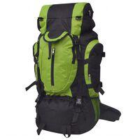 vidaXL Hiking Backpack XXL 75 L Black and Green