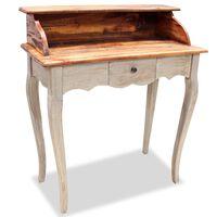 vidaXL Writing Desk Solid Reclaimed Wood 80x40x92 cm