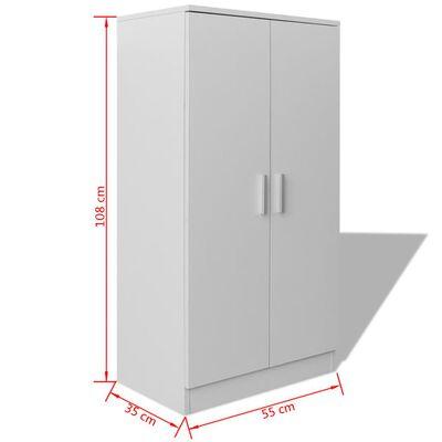 vidaXL Shoe Cabinet 7 Shelves White