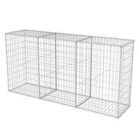 vidaXL Gabion Basket Galvanised Steel 200x50x100 cm