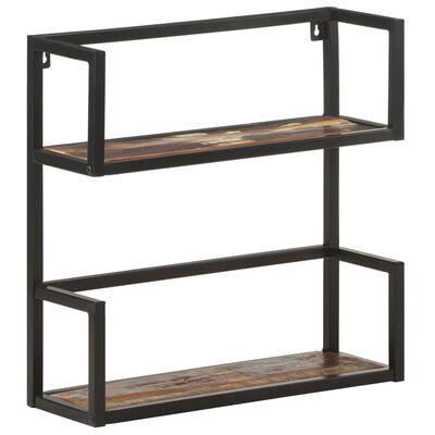 vidaXL Wall Shelf 60x20x60 cm Solid Reclaimed Wood