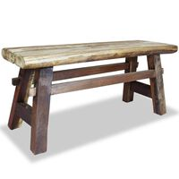 vidaXL Bench Solid Reclaimed Wood 100x28x43 cm