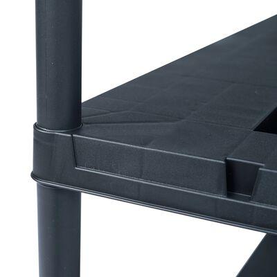 vidaXL Storage Shelf Racks 2 pcs Black 260 kg 90x40x180 cm Plastic,