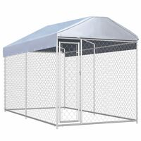 vidaXL Outdoor Dog Kennel with Canopy Top 382x192x225 cm