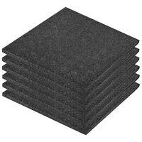 vidaXL Fall Protection Tiles 6 pcs Rubber 50x50x3 cm Black