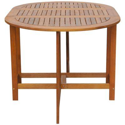 vidaXL Garden Table 130x90x72 cm Solid Acacia Wood