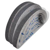 vidaXL Airpress Pneumatic Sand Belts 30 Pcs 10 x grit 60. 10 x grit 80. 10 x grit 120 10mm x 330 mm