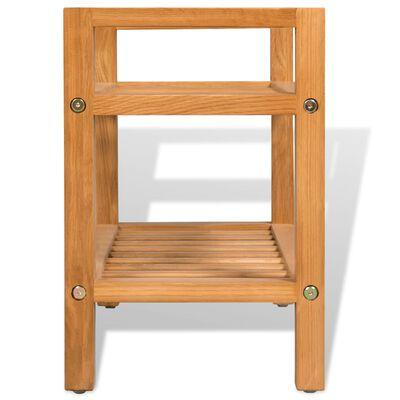 vidaXL Shoe Rack with 2 Shelves 49,5x27x40 cm Solid Oak Wood
