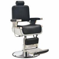 vidaXL Barber Chair Black 68x69x116 cm Faux Leather