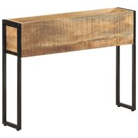 vidaXL Planter 90x20x68 cm Rough Mango Wood