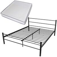 vidaXL Bed Frame with Memory Foam Mattress King Size