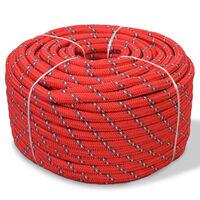 vidaXL Marine Rope Polypropylene 8 mm 100 m Red