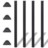vidaXL Adjustable Table Legs 4 pcs Black 1100 mm