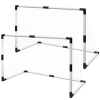 vidaXL Mini Soccer Goals Post Net Set 2 pcs for Kids 91.5 x 48 x 61 cm
