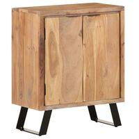 vidaXL Sideboard 60x36x76 cm Solid Acacia Wood with Live Edges