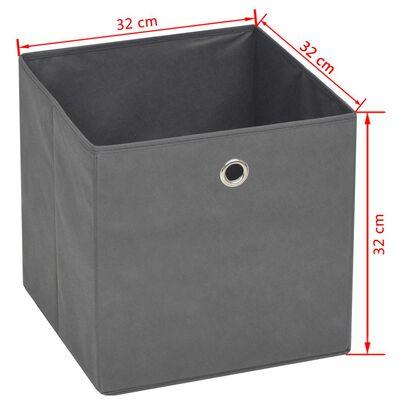vidaXL Storage Boxes 10 pcs Non-woven Fabric 32x32x32 cm Grey