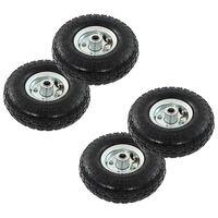 vidaXL Sack Truck Wheels 4 pcs Rubber 4.10/3.50-4