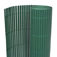 vidaXL Double-Sided Garden Fence PVC 150x500 cm Green