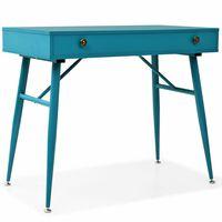 vidaXL Writing Desk with Drawer 90x50x76.5 cm Antique Green